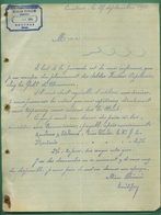 33 Coutras Gros Emile Fourniture Industrielle ( Texte Sur Feutre Papeterie Fabication De Chaussons ) 27 Septembre 1903 - Imprimerie & Papeterie