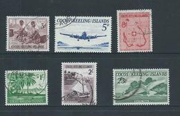 Cocos Keeling Island 1963 Definitive Set Of 6 FU Cds - Cocos (Keeling) Islands