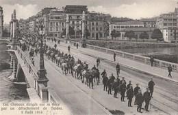 Geneve - Les Chevaux Dirigés Sur La Gare Par Un Détachement De Guides - 5 Août 1914 - GE Geneva