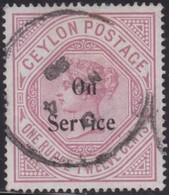 Ceylon      .   SG      .    O 17b         .   O      .       Cancelled      .   /    .   Gebruikt - Ceylon (...-1947)