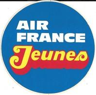 AUTOCOLLANT-PUBLICITAIRE- Vers 1970-AIR FRANCE /JEUNES-Rond 10,5 Cm-NEUF-RARE - Autocollants