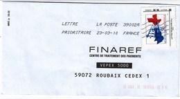 """MonTimbraMoi Personnalisé """"50e ANNIVERSAIRE 1958-2008  HOTEL DE VILLE DE MONTEUX"""" Lettre 20gr, Sur Lettre Du 23/03/10 - France"""