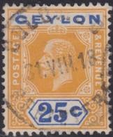 Ceylon      .   SG      .    312      .   O      .       Cancelled      .   /    .   Gebruikt - Ceylon (...-1947)