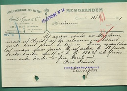 33 Coutras Union Commerciale Des Feutres Gros Emile 13 Mars 1907 - France