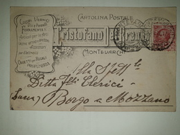 CP371-Cartolina Pubblicitaria Cristofaro Del Brenna - Ferramenta - Montevarchi - 1900-44 Victor Emmanuel III