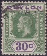 Ceylon      .   SG      .    313     .   O      .       Cancelled      .   /    .   Gebruikt - Ceylon (...-1947)