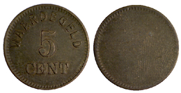 03039 GETTONE TOKEN JETON FICHA THE NETHERLANDS VENDING WAARDEGELD 5 CENT - Unclassified