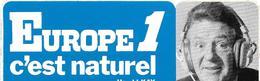 AUTOCOLLANT-PUBLICITAIRE- Vers 1970-RADIO/EUROPE1-Harold KAY-Jeu Concours-TBE-RARE - Autocollants