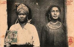 LAOS - Jeunes Gens Méos Noirs (Hua-Pahn) -  2 Scans - Laos