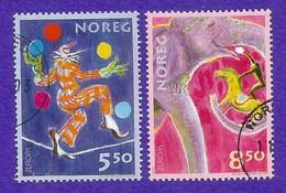 Norwegen / Norge  2002  Mi.Nr. 1446 / 1447 , EUROPA CEPT Zirkus - Gestempelt / Fine Used / (o) - 2002