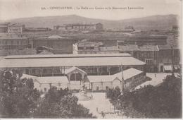 CPA Constantine - La Halle Aux Grains Et Le Monument Lamoricière - Constantine