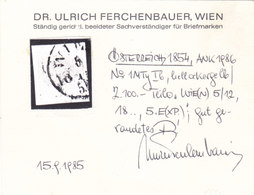 Österreich Nr. 1 M Ib Hellockergelb, Gest., Befund Ferchenbauer !!! - Gebruikt
