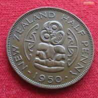 New Zealand 1/2 Half Penny 1950 KM# 20  Nova Zelandia Nuova Zelanda Nouvelle Zelande - Nouvelle-Zélande