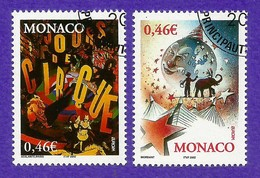 Monaco  2002  Mi.Nr. 2600 / 2601 , EUROPA CEPT Zirkus - Gestempelt / Fine Used / (o) - 2002