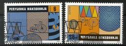 Makedonien  2002  Mi.Nr. 254 / 255 , EUROPA CEPT Zirkus - Gestempelt / Fine Used / (o) - 2002
