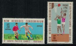 New Hebrides // 1960-1980 // 1971 // Jeux Du Pacifique Sud Timbres Neufs** MNH No. Y&T 310-311 - Légende Anglaise