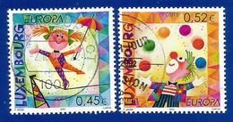 Luxembourg  2002  Mi.Nr. 1579 /1580 , EUROPA CEPT Zirkus - Gestempelt / Fine Used / (o) - 2002