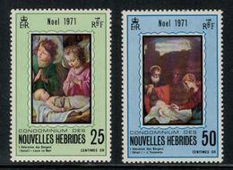 Nouvelles Hébrides // 1960-1980 // 1971 // Noël Timbres Neufs** MNH No. Y&T 314-315 - Légende Française