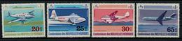 Nouvelles Hébrides // 1960-1980 // 1972 // Avions Divers Timbres Neufs** MNH No. Y&T 318-321 - Légende Française