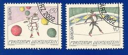 Liechtenstein  2002  Mi.Nr. 1283 / 1284 , EUROPA CEPT Zirkus - Gestempelt / Fine Used / (o) - 2002