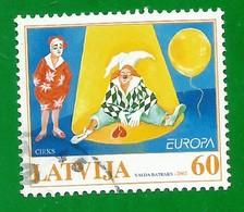 Lettland / Latvija  2002  Mi.Nr. 568 , EUROPA CEPT Zirkus - Gestempelt / Fine Used / (o) - 2002