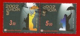 Kroatien  2002  Mi.Nr. 610 / 611 , EUROPA CEPT Zirkus - Gestempelt / Fine Used / (o) - 2002