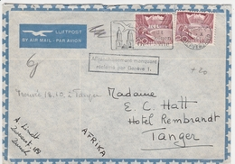 Suisse Lettre Zürich Pour Tanger 1951 - Postmark Collection