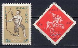 Iran 1964 Olympic Games Tokyo Set Of 2 MNH - Summer 1964: Tokyo