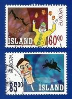 Island  2002  Mi.Nr. 1009 / 1010 , EUROPA CEPT Zirkus - Gestempelt / Fine Used / (o) - 2002
