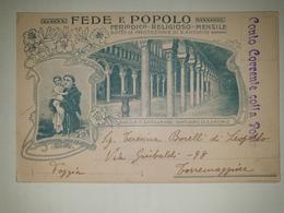 CP395-Cartolina Pubblicitaria Fede E Popolo - Periodico Religioso Mensile - Ravenna - Spedita In Conto Corrente Postale - Storia Postale