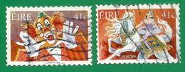 Irland  2002  Mi.Nr. 1434 / 1435 , EUROPA CEPT Zirkus - Selbstklebend - Gestempelt / Fine Used / (o) - 2002