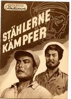 STEEL FIGHTERS Chinese Movie 1951 East German Film Program - Films & TV