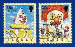 Jersey  2002  Mi.Nr. 1020 / 1021 , EUROPA CEPT Zirkus - Gestempelt / Fine Used / (o) - 2002