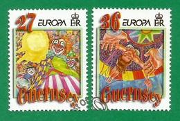 Guernsey  2002  Mi.Nr. 914 / 915 , EUROPA CEPT Zirkus - Gestempelt / Fine Used / (o) - 2002