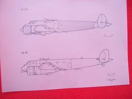 DISEGNO SU CARTA DA LUCIDO AEREO CANSA FC 20 E SM 89 - Technical Plans