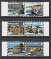 2015 Falkland Islands ESRG Elephant Seals Marine Mammals  Complete Set Of 6 MNH - Falkland Islands