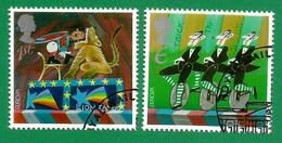 Grossbritannien  2002  Mi.Nr. 2004 / 2005 , EUROPA CEPT Zirkus - Gestempelt / Fine Used / (o) - 2002
