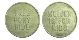 04401 GETTONE TOKEN JETON FICHA AMUSEMENT CAROUSEL FREE PONY RIDE MEJIER - USA