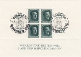 DR,  Reichsparteitag 1937, Block 11 Mit Sonderstempel Nürnberg - Blocks & Kleinbögen