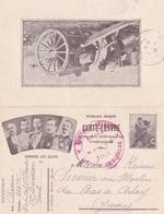 Carte Lettre En Franchise Militaire - Chefs D'état - Simili Timbre - Canon De 75 - Cachet Hôpital Militaire Toul - Military Service Stampless