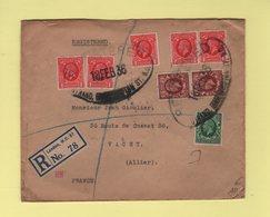 Londres - Lettre Recommandee Pour La France - 18 Fevrier 1936 - 1902-1951 (Rois)