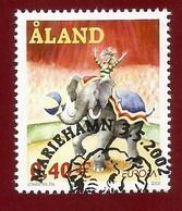 Finnland - Äland  2002   Mi.Nr. 208 , EUROPA CEPT - Zirkus - Gestempelt / Fine Used / (o) - 2002