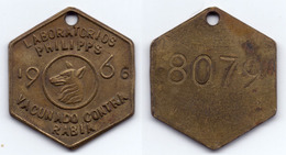 PERU - LIMA VACCINATED RABIES DOG TAG - 1966 - Tokens & Medals