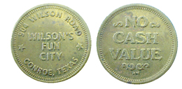 04417 GETTONE TOKEN JETON ARCADE AMUSEMENT CENTER WILSON'S FUN CITY - USA