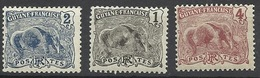 Guyane N° 49  à 51  Tapir   Neufs * B/ TB  Les 49 Et97 Oblitérés Offerts   Soldé   à Moins De 20  % ! ! ! - Unused Stamps