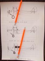 STAMPA CON DISEGNO CAPRONI CA 100 CON MOTORE FIAT,ALFA ROMEO - Technical Plans