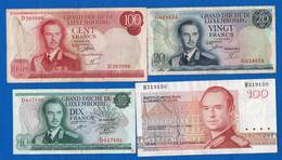 Luxembourg  4  Billets  Dans  L'etat - Luxemburg
