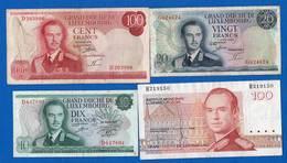 Luxembourg  4  Billets  Dans  L'etat - Lussemburgo