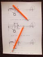 STAMPA CON DISEGNO CAPRONI CA 100 CON MOTORE GIPSY,  ASSO,   CIRRUS - Technical Plans