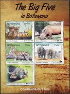 Botswana 2018 Big 5 Set M/Sheet. MNH - Botswana (1966-...)